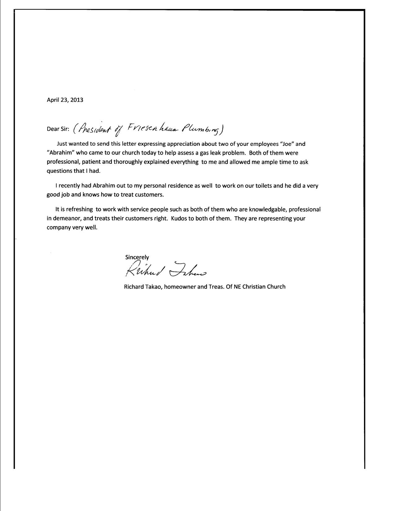 Letter Of Appreciation For Job Well Done from plumbsuper.files.wordpress.com